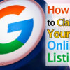 How to Claim Your Online Listing